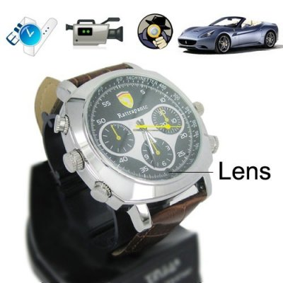 Multifunctional Recorder HD 720P Wrist Watch with Hidden Camera and 4GB Memory